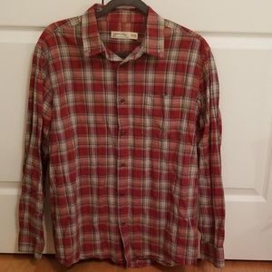 Faded Glory Plaid Button Down long sleeved shirt